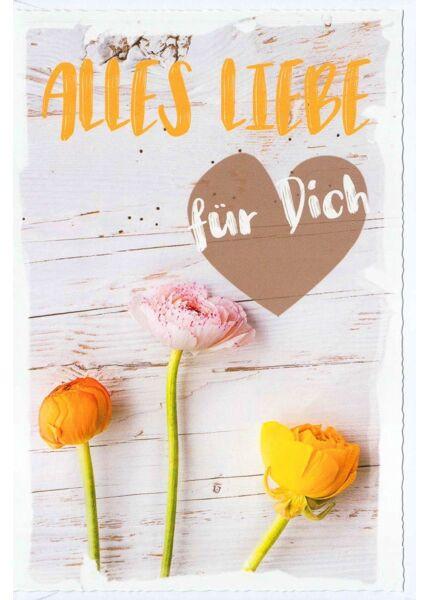 Grußkarte Liebe Freundschaft Alles Liebe für Dich