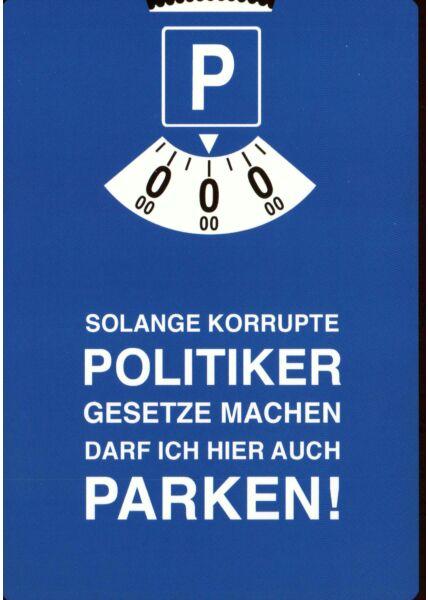 Postkarte witzig Spruch Solange korrupte .....