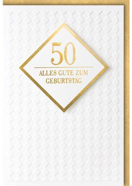 Geburtstagskarte 50 Jahre Premiumqualität Alles Gute