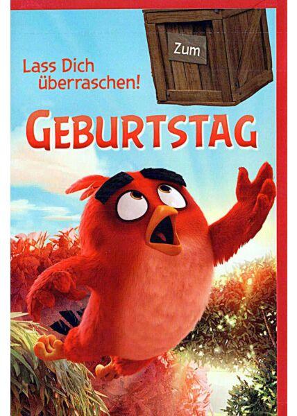 """Kindergeburtstagskarte Angry Birds """"lass Dich überraschen"""""""