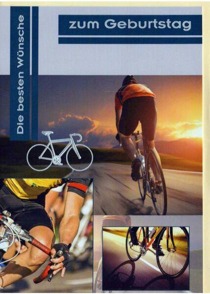 Geburtstagskarte mit Rennrad. Karte Für Fahrradfahrer