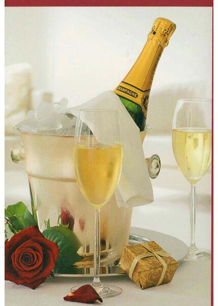 Grußkarte ohne Text Champagner