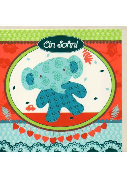 Glückwunschkarten Geburt Jungen Karte Baby Geburt Junge ein Sohn
