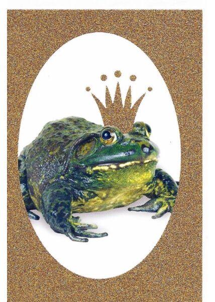Grußkarte Froschkönig originell flexibel einsetzbar