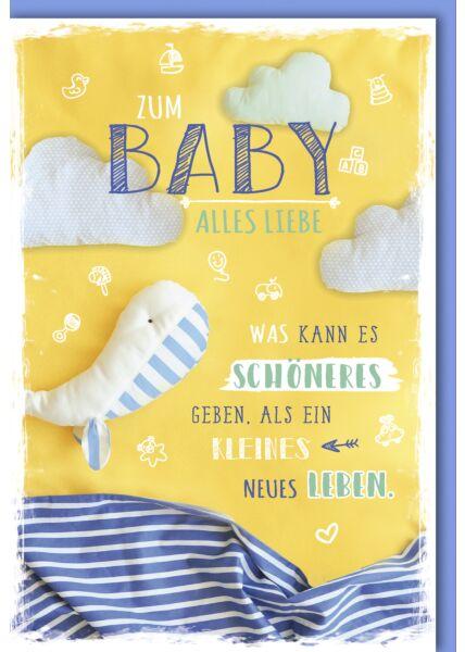 Glückwunschkarte zur Geburt Was kann es schöneres geben...