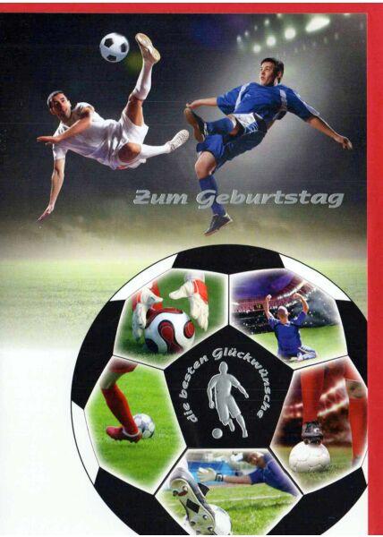 Geburtstagskarte Mann: Fußball