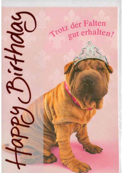 lustige Geburtstagskarte Spruch Falten
