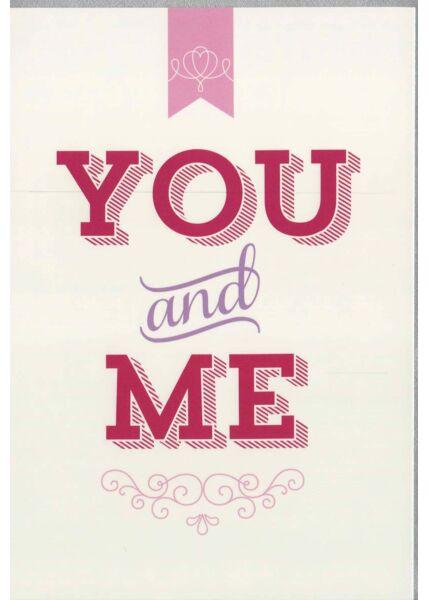 Grußkarte Liebe: You and Me
