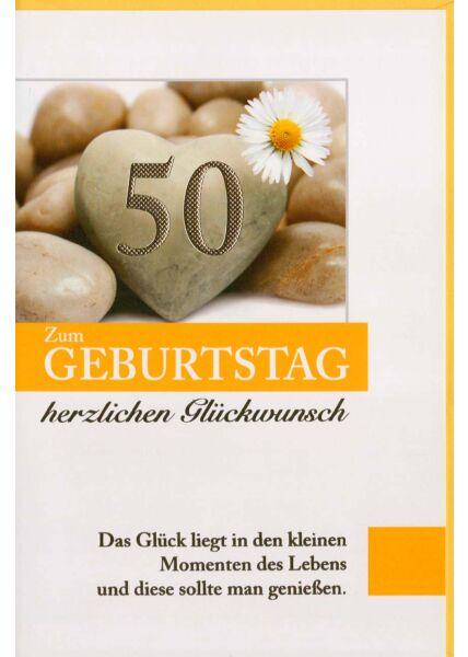 Geburtstagskarte 50. Geburtstag kleine Momente