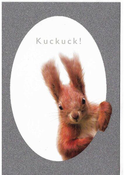 Grußkarte Eichhörnchen Kuckuck