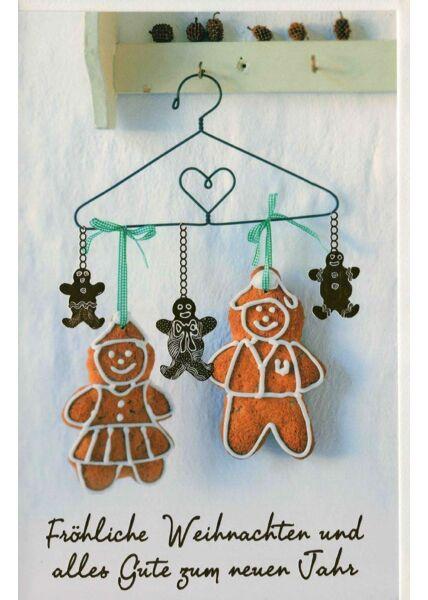 Weihnachtsgrußkarte liebevoll Lebkuchen