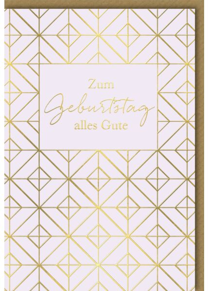 Geburtstagskarte - goldene Quadrate