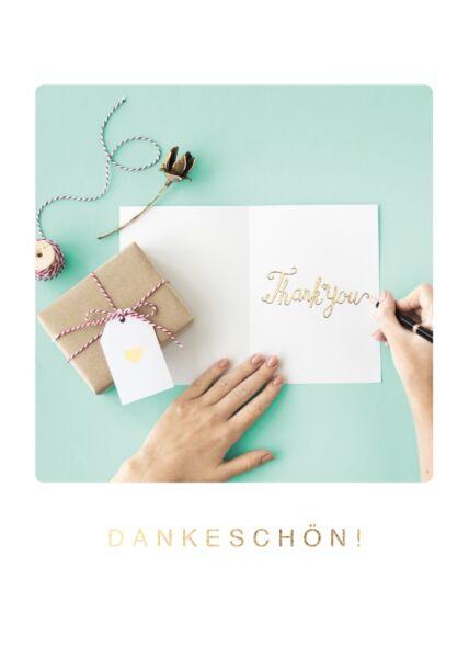 Postkarte Freundschaft Päckchen u. Karte Dankeschön!