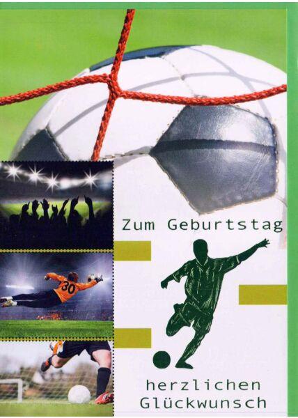 Geburtstagskarte Mann: Fußball grün
