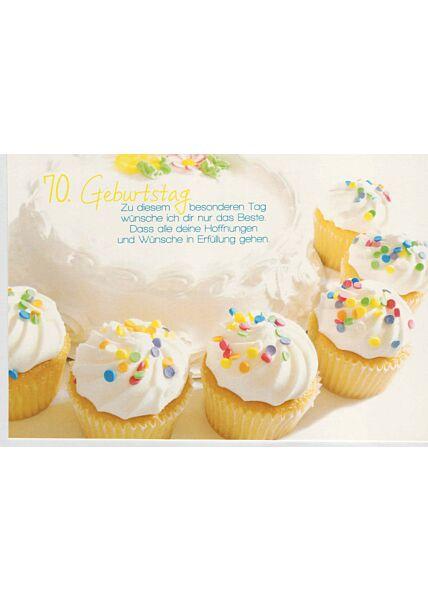 Geburtstagskarte 70 mit schönem Geburtstagswunsch
