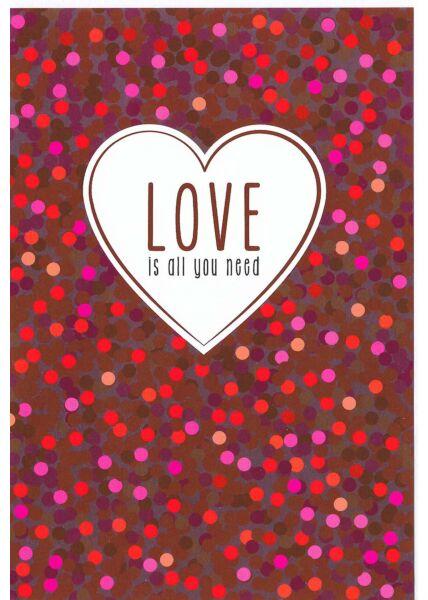Glückwunschkarte Hochzeit lustig: Love is all you need