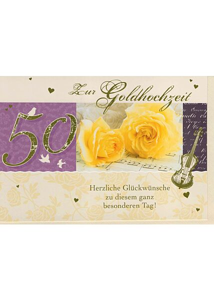 Glückwunschkarte Goldhochzeit: Zu diesem ganz besonderen Tag