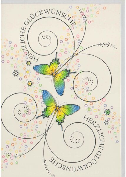 Glückwunschkarte Schmetterlinge Illustration originell