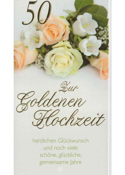 Karte goldene Hochzeit viele gemeinsame Jahre