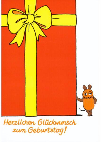 Maus-Postkarte Viel Glück zum Geburtstag