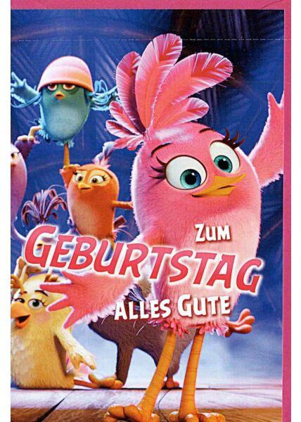 "Kindergeburtstagskarte Angry Birds ""zum Geburtstag alles Gute"""