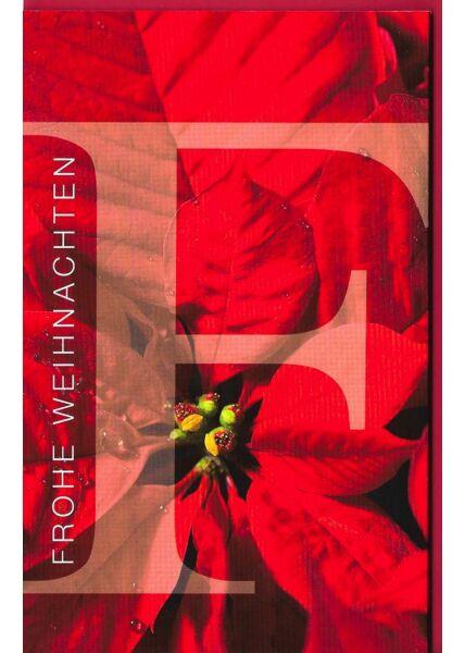 Weihnachtskarte rot Platz für viel Text