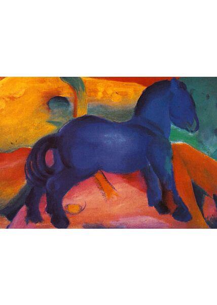 Kunstkarte Franz Marc - Blaues Pferdchen