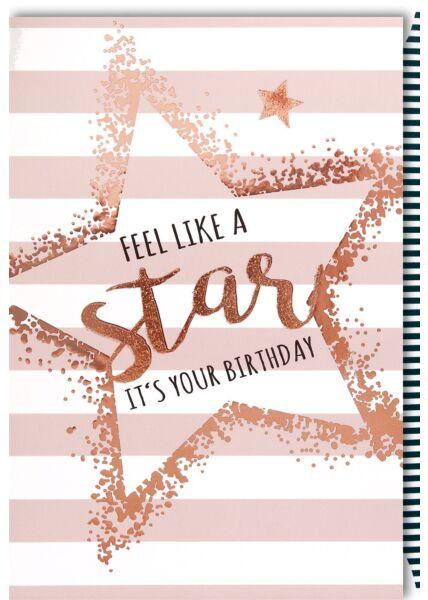 Geburtstagskarte für Frauen Geburtstag - Like a Star