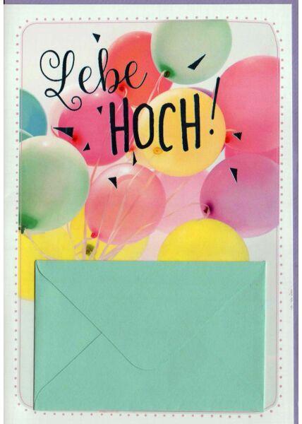 Geburtstagskarte mit Geldfach: