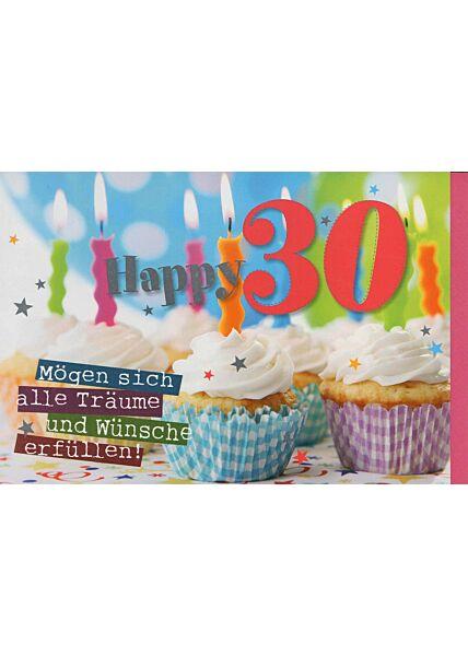 Geburtstagskarte zum 30 Geburtstag: Happy 30