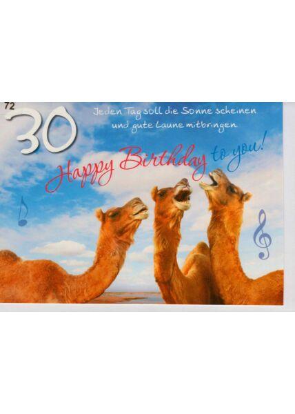 Geburtstagskarte 30 Happy Birthday to you