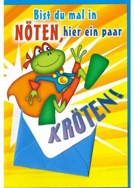 Geburtstagskarte mit Geldfach ein paar Kröten