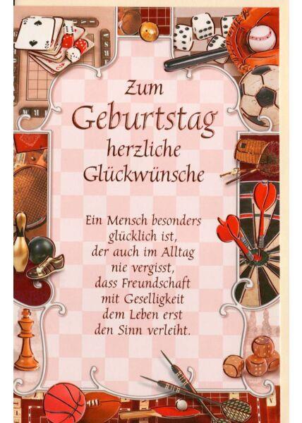 Geburtstagskarte mit Geburtstagsgedicht
