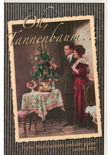 Weihnachtskarte retro Motiv klassisch