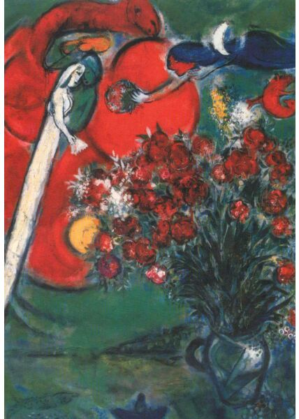 Kunstkarte Marc Chagall, Still-Life with Flowers