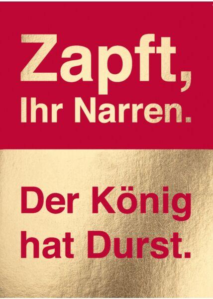 Postkarte Spruch Zapft, ihr Narren