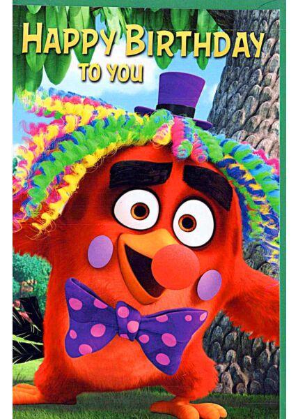 "Kindergeburtstagskarte Angry Birds ""Happy Birthday to you"""