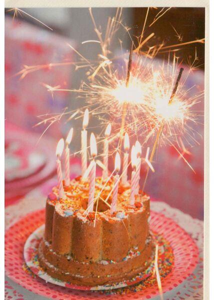 Glückwunschkarte ohne Text Kuchen