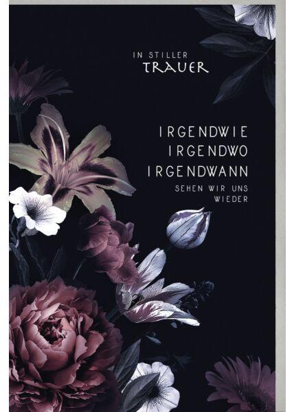 Trauerkarte Blumen In aller Stille