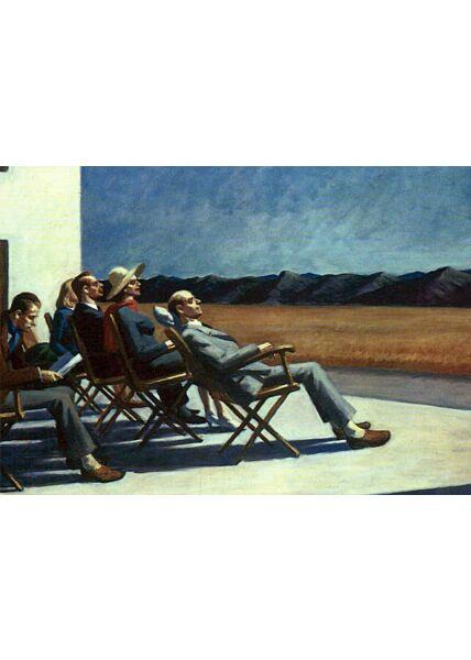 Kunstkarte Edward Hopper - People in the sun
