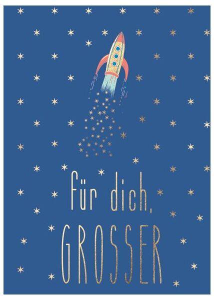 Postkarte Mann Rakete - Für Dich, Großer