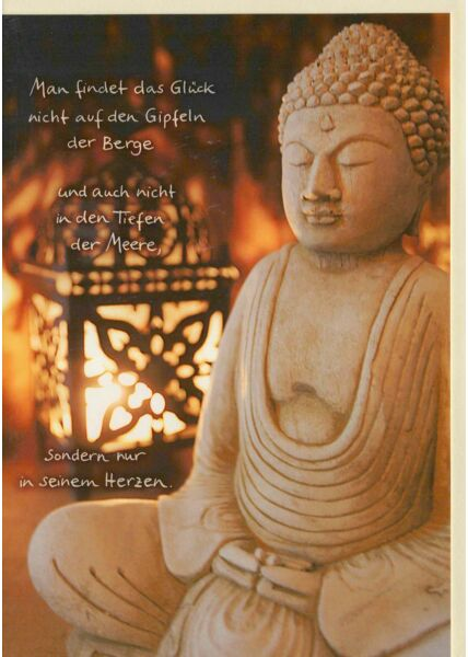 Buddhistische Geburtstagskarte mit Spruch