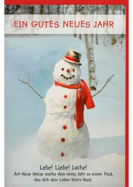 Neujahrskarte Lebe! Liebe! Lache!