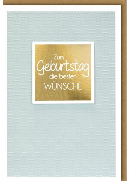 Geburtstagskarte premium- Doppelstrich-Muster