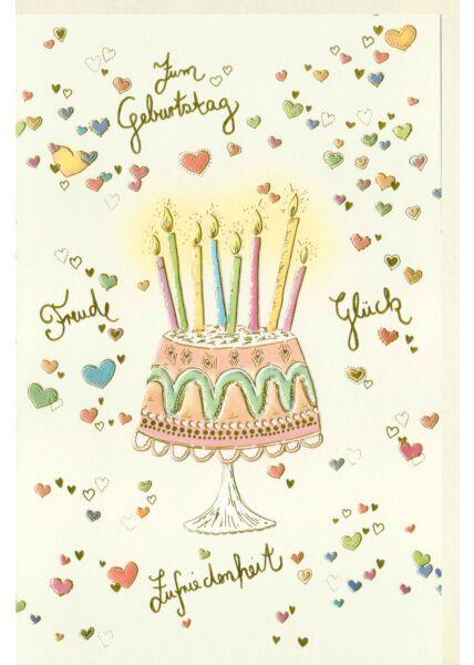 Karte Geburtstag Glück Freude Zufriedenheit