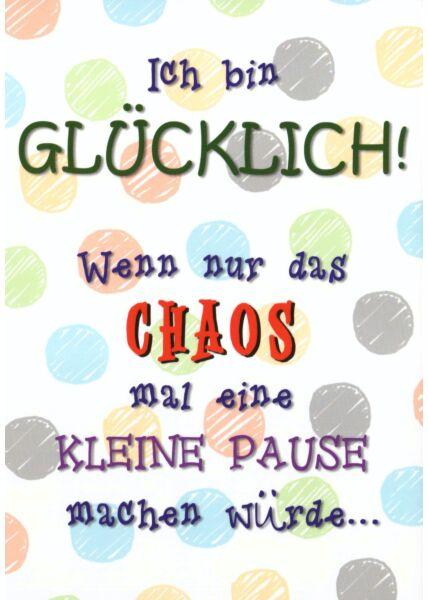 Postkarte Sprüche Ich bin Glücklich!