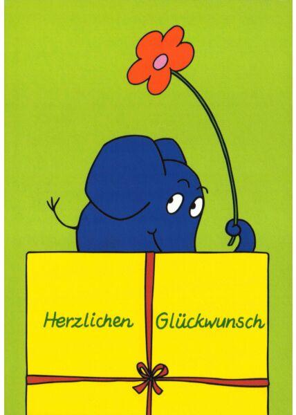 Maus-Postkarte Herzlichen Glückwunsch Teil 1