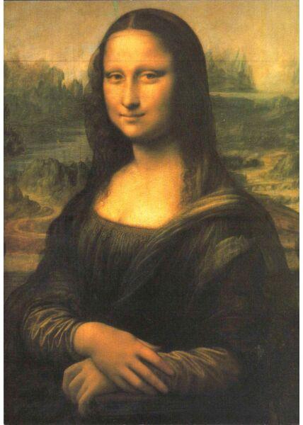 Kunstkarte Leonardo da Vinci - Mona Lisa