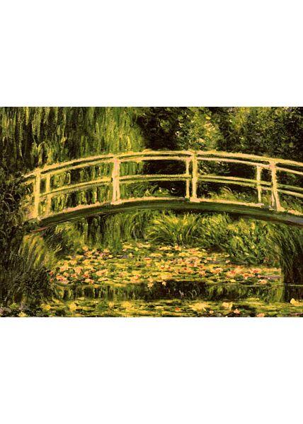 Kunstkarte Claude Monet - Der Seerosenteich 1899