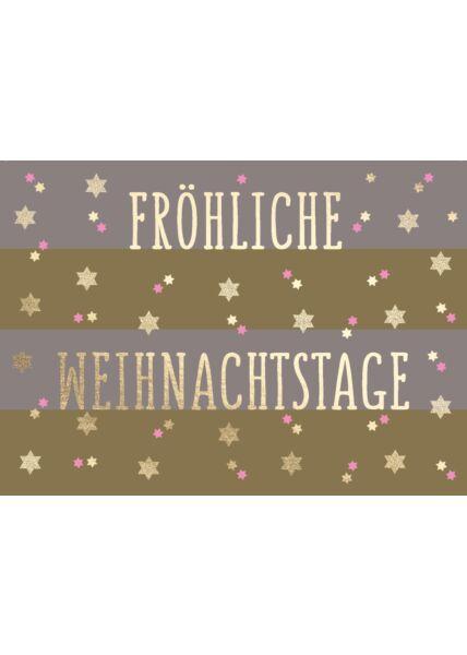 Weihnachtspostkarte Fröhliche Weihnachtstage